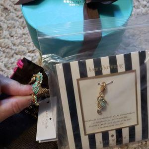 Kate Spade Seahorse Ring and Charm Set